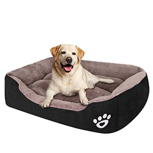 PUPPBUDD Dog Bed for Large Dogs Washable Comfortable Safety Pet Sofa Extra Firm