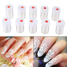New White Lace Nail Art Transfer Decal Sticker Manicure Tip Decoration 4*120