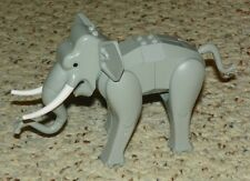 LEGO - Animal, Land: Elephant, Assembly w/ Back Connector Slopes - Light Gray
