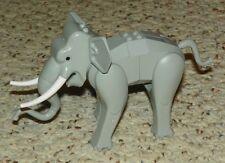 LEGO - Animal, Land: Elephant, Assembly w/ Back Connector Slopes - Light Gray