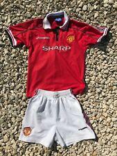 Manchester United Home Shirt Vintage Football Kit 98/00 Size Boys 10-11 Sharp