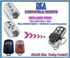 DEA GENIE GREY / DEA GENIE-R replacement remote control / 433,92Mhz Rolling code