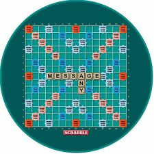 """A 7.5"""" Round Scrabble Board (Word Puzzle) Personalised Cake Topper ICING"""