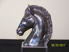 Rare Vintage Sterling Silver Overlay Artist Made Horse Head Sculpture Statue
