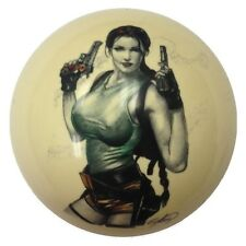 Pool/Billiards Custom Cue Ball Fighting Girl Pin-Up Great Gift!