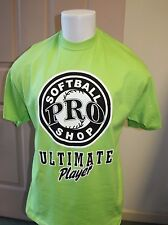 SOFTBALL- BIGHT GREEN T-SHIRT= ULTIMATE PLAYER  XX-LARGE  T-SHIRT HANES BEEFY T