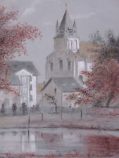 Roger BURLET-VIENNAY (1903-1997) Eglise de Mehun s/ Yèvre Vierzon cher berry