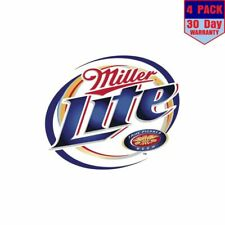 Miller Lite 4 Stickers 4x4 Inch Sticker Decal