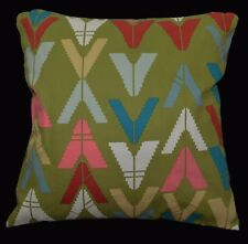 LL401a Light Olive Pink Red Triangle Cotton Canvas Cushion Cover/ Pillow Case