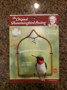 The Original Hummingbird Swing orange w/charm by Pop'S Birding Co, Llc