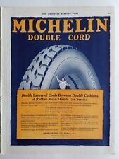 1920 Michelin man double cord car tire company Milltown New Jersey ad