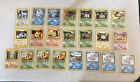 Pokemon 1995-2000 Neo Genesis Lot of 22 Cards - 1st / Unlimited & HOLO! - LP/NM