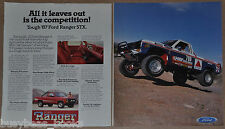 1987 FORD Ranger STX Pickup 2-page advertisement, Manny Esquerra off-road racer