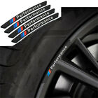 4x For BMW Performance Wheels Aluminum Sticker Badge Logo Emblem M Power Sport