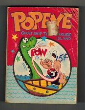 POPEYE in GHOST SHIP to TREASURE ISLAND #5755 BIG LITTLE BOOK - WHITMAN 1967