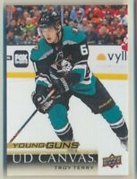 2018-19 Upper Deck Series 2 Canvas Young Guns C233 Troy Terry Anaheim Ducks