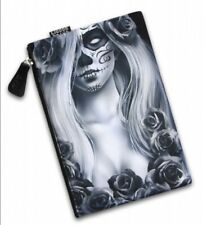 Liquor Brand Love large cosmetic bag Day of the Dead Girl Sugar Skull Gothic