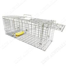 Humane Animal Trap Catch Cage Live Fox Rat Cat Possum Rabbit Folding OZ
