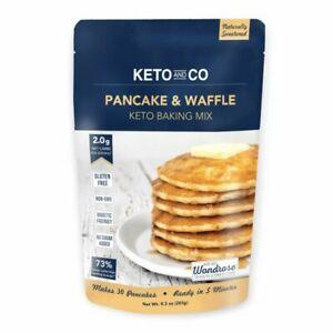 Keto and Co Keto Pancake & Waffle Baking Mix Diabetic & Keto Friendly No Sugar!