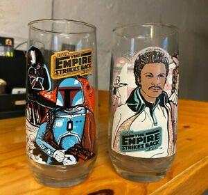 Burger King Star Wars - The Empire Strikes Back Glasses - Darth Vader & Lando