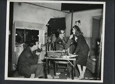 RITA HAYWORTH + MAKEUP MAN BETWEEN TAKES CANDID - 1947 VINTAGE PHOTO