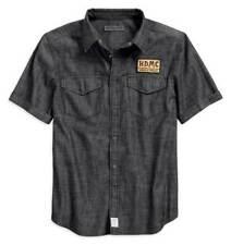 Harley Davidson Mens Denim HDMC Short Sleeve Shirt NEW