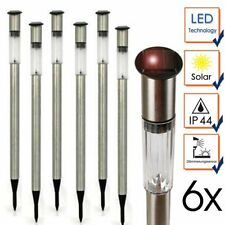 6 x Lampade da Giardino Ricarica Solare in Acciaio Inossidabile Tecnologia a LED