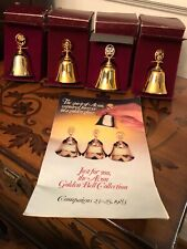Avon Golden Bell Collection 1983 Mint Cond In Original Boxes 4 Bells W/Brochure