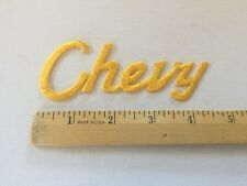 Chevrolet Patch Embroidered , Vintage Rare Chevy Patch Awesome Diecut Yellow