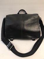 Coach Black Leather Briefcase Messenger Bag H05S- 5A01