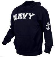 usn us navy hoodie hooded sweatshirt embroidered rothco 2057