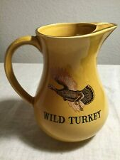 24 Oz Wild Turkey Bourbon Whiskey Pitcher - Fine Staffordshire Pottery - England