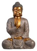 Golden THAI BUDDHA Sitting Ornament Figure Statue Sculpture MEDITATING Figurine