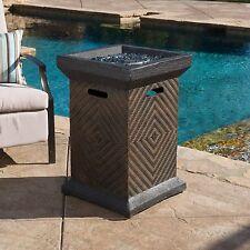Outdoor Brown 19?Liquid Propane Fire Pit Column