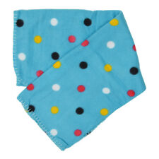 Soft Fleece Pet Blanket Dog Cat Puppy Kitten Home Car 70x70cm Blue Polka Dot