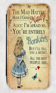 Alice in Wonderland iPhone wallet case 12 Mini,SE2020,11Pro Max,XS,XR Mad Hatter