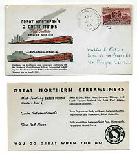 CF1 Great Northern Railway Trains Empire Builder & Western Star RPO with Card