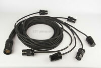 SOCAPEX  19 PIN Male  24FT to L6-20 Staggered Breakout 4,8,12,16,20,24'