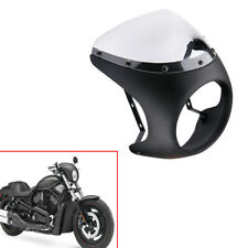 """Motorcycle 7"""" Cafe Racer Headlight Fairing Screen Windshield Cover For Sale"""