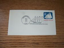 U598 Postal Envelope w/ Pictorial 3 Mast Ship Cancel 250th. Anniv. 9/27/1980 MIK