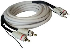 Câble cordon RCA phono audio mâle-mâle remote 5m 5 mètres blanc ampli subwoofer