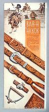 Bar-H Hickok Western Belt PRINT AD - 1944 ~~ belts
