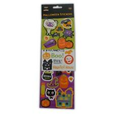 Halloween Stickers - Decoration Party Sheets Presents Scrap Book Crafts Kids Fun