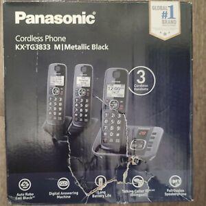 Panasonic KX-TG3833 Cordless Phone Answering System 3 Handsets BRAND NEW SEALED
