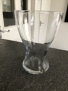 Clear Glass Vase 7 Inches Tall & 4 Inches At Widest Point