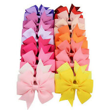 40 Pcs Satin Ribbon Bow Hair Clips Kids Girls Bow Hair Accessories Beautiful