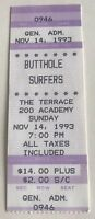 Butthole Surfers - US Concert Ticket Stub 1993 Dallas, Texas