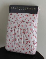 NEW Ralph Lauren Colchester Red Beige 200TC Floral Calico King Pillowcases