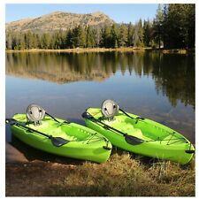 ‼�Lifetime Tioga 120� Kayak, 2 Pack Lime Green With 2 Paddles Sit On Top‼�