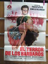A2396 EL TERROR DE LOS BARBAROS STEVE REEVES PEPLUM